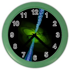 Gas Yellow Falling Into Black Hole Color Wall Clocks by Mariart