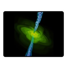 Gas Yellow Falling Into Black Hole Fleece Blanket (small) by Mariart