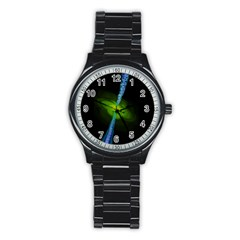 Gas Yellow Falling Into Black Hole Stainless Steel Round Watch by Mariart