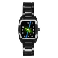 Gas Yellow Falling Into Black Hole Stainless Steel Barrel Watch by Mariart