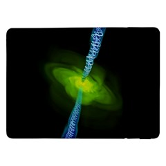 Gas Yellow Falling Into Black Hole Samsung Galaxy Tab Pro 12 2  Flip Case by Mariart