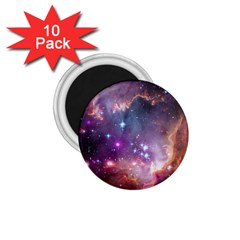 Galaxy Space Star Light Purple 1 75  Magnets (10 Pack)  by Mariart