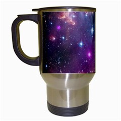 Galaxy Space Star Light Purple Travel Mugs (white) by Mariart