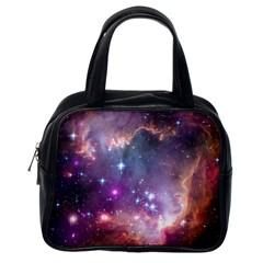 Galaxy Space Star Light Purple Classic Handbags (one Side) by Mariart