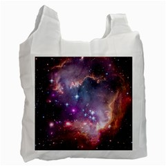 Galaxy Space Star Light Purple Recycle Bag (one Side) by Mariart