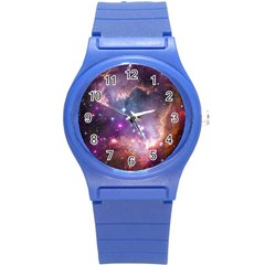 Galaxy Space Star Light Purple Round Plastic Sport Watch (s) by Mariart