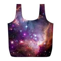 Galaxy Space Star Light Purple Full Print Recycle Bags (l)  by Mariart