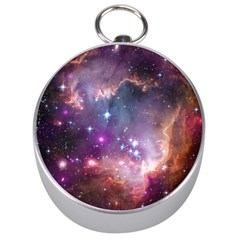 Galaxy Space Star Light Purple Silver Compasses by Mariart