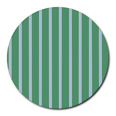 Green Line Vertical Round Mousepads by Mariart