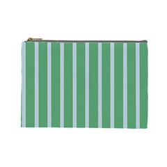 Green Line Vertical Cosmetic Bag (large)  by Mariart