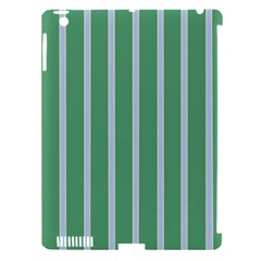 Green Line Vertical Apple Ipad 3/4 Hardshell Case (compatible With Smart Cover) by Mariart