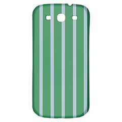 Green Line Vertical Samsung Galaxy S3 S Iii Classic Hardshell Back Case by Mariart