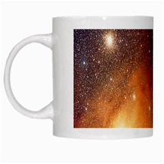 Galaxy Space Star Light White Mugs by Mariart