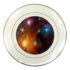 Galaxy Space Star Light Porcelain Plates by Mariart