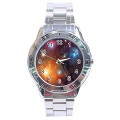 Galaxy Space Star Light Stainless Steel Analogue Watch by Mariart