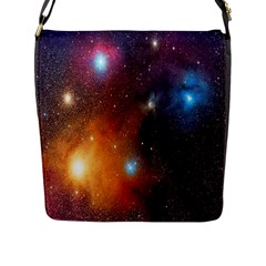 Galaxy Space Star Light Flap Messenger Bag (l)  by Mariart