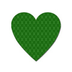 Green Seed Polka Heart Magnet by Mariart