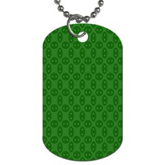 Green Seed Polka Dog Tag (two Sides) by Mariart