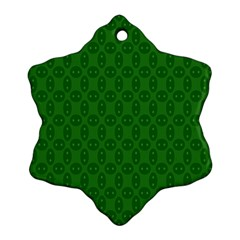 Green Seed Polka Ornament (snowflake) by Mariart