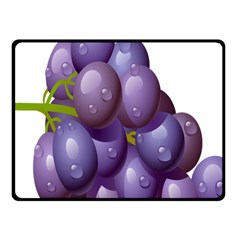 Grape Fruit Fleece Blanket (small) by Mariart