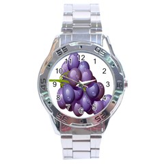 Grape Fruit Stainless Steel Analogue Watch by Mariart