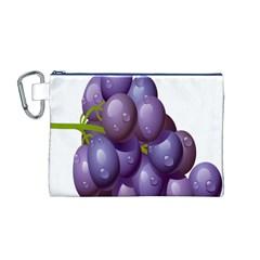 Grape Fruit Canvas Cosmetic Bag (m)