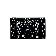 Helmet Original Diffuse Black White Space Cosmetic Bag (small)  by Mariart