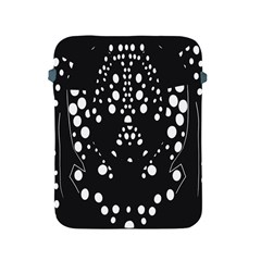 Helmet Original Diffuse Black White Space Apple Ipad 2/3/4 Protective Soft Cases by Mariart