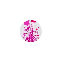 Heart Flourish Pink Valentine 1  Mini Magnets by Mariart