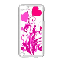 Heart Flourish Pink Valentine Apple Ipod Touch 5 Case (white) by Mariart