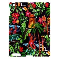 Hawaiian Girls Black Flower Floral Summer Apple Ipad 3/4 Hardshell Case by Mariart