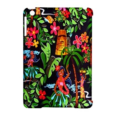 Hawaiian Girls Black Flower Floral Summer Apple Ipad Mini Hardshell Case (compatible With Smart Cover) by Mariart