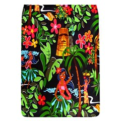 Hawaiian Girls Black Flower Floral Summer Flap Covers (s)  by Mariart