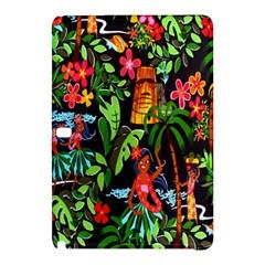 Hawaiian Girls Black Flower Floral Summer Samsung Galaxy Tab Pro 10 1 Hardshell Case by Mariart