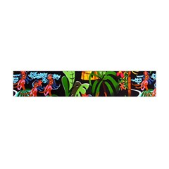 Hawaiian Girls Black Flower Floral Summer Flano Scarf (mini) by Mariart