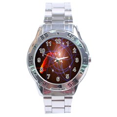 Highest Resolution Version Space Net Stainless Steel Analogue Watch by Mariart