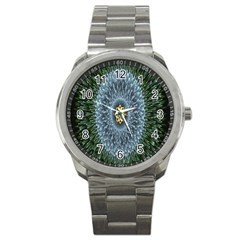 Hipnotic Star Space White Green Sport Metal Watch by Mariart