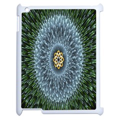 Hipnotic Star Space White Green Apple Ipad 2 Case (white) by Mariart