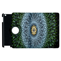 Hipnotic Star Space White Green Apple Ipad 2 Flip 360 Case by Mariart