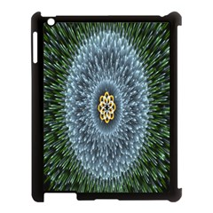 Hipnotic Star Space White Green Apple Ipad 3/4 Case (black) by Mariart