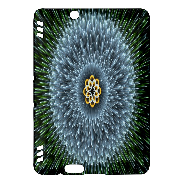 Hipnotic Star Space White Green Kindle Fire HDX Hardshell Case