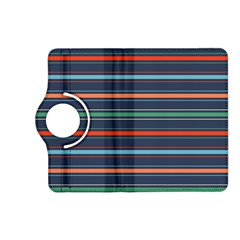 Horizontal Line Blue Green Kindle Fire Hd (2013) Flip 360 Case by Mariart