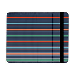 Horizontal Line Blue Green Samsung Galaxy Tab Pro 8 4  Flip Case by Mariart