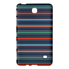 Horizontal Line Blue Green Samsung Galaxy Tab 4 (8 ) Hardshell Case  by Mariart