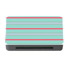 Horizontal Line Blue Red Memory Card Reader With Cf by Mariart
