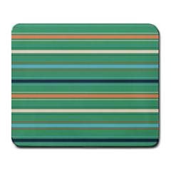 Horizontal Line Green Red Orange Large Mousepads by Mariart