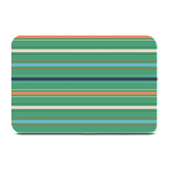 Horizontal Line Green Red Orange Plate Mats by Mariart