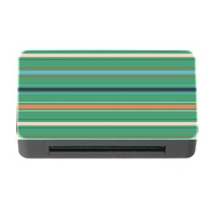 Horizontal Line Green Red Orange Memory Card Reader With Cf by Mariart