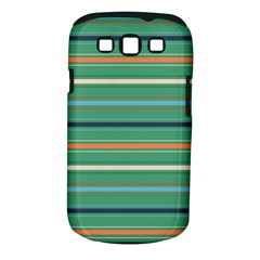 Horizontal Line Green Red Orange Samsung Galaxy S Iii Classic Hardshell Case (pc+silicone) by Mariart