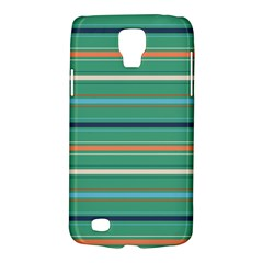 Horizontal Line Green Red Orange Galaxy S4 Active by Mariart